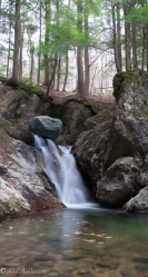 The One Boulder Falls of Cobb Brook