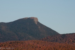 A close up of the summit of Camel's Hump