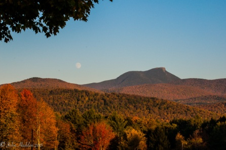 Moonrise over Camel's Hump