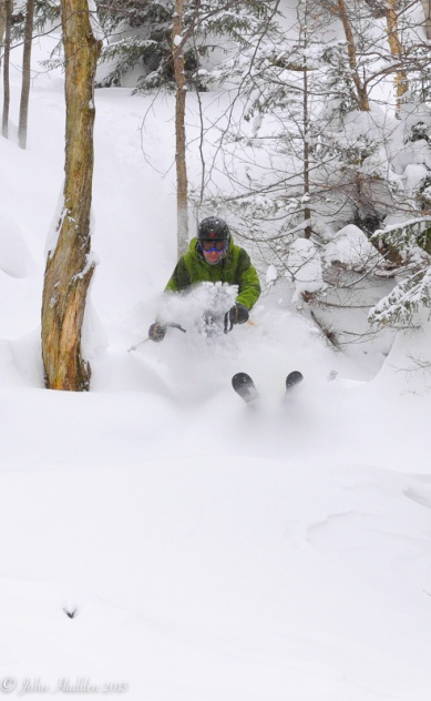 Paul Vichi takes advantage of the powder at Mad River Glen.