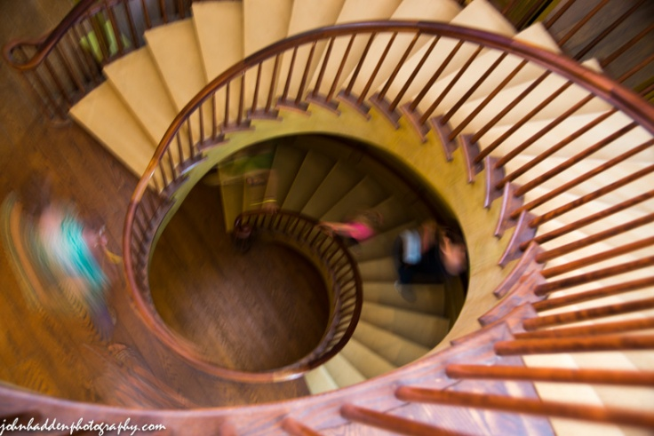 Spiral stairs in motion...