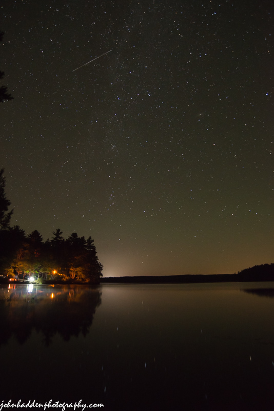 Cassiopea & Andromeda above Conway Lake
