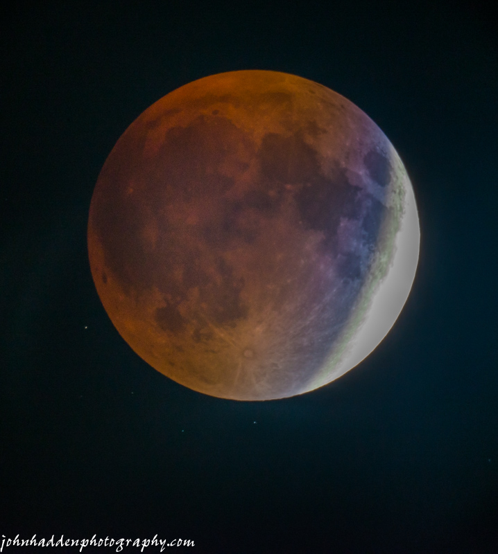 Last night's perigee moon approaches totality
